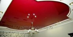 Multilevel stretch ceilings with installation in