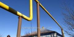 Steel gas pipeline
