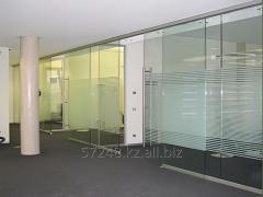 Partitions glass sliding from IP Crystal Glass