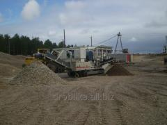Mobile MJU crushers (with a shchekovy crusher of