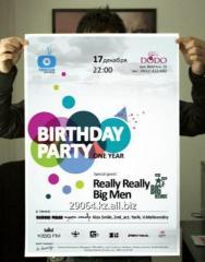 Posters, tickets, invitation
