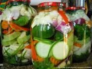 Canned vegetables pickled