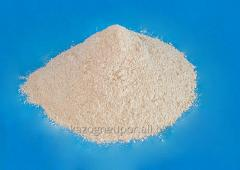 Powder of the refractory clay ground on ST of