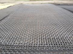 Grid from a steel corrugated wire of GOST 3306-88