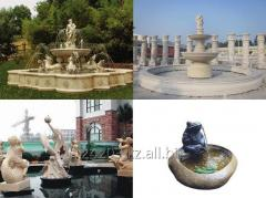 Fountains from a natural stone