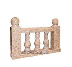Rail-posts from marble and granite
