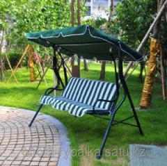 Качеля садовая раскладная кровать 210х120х160 см