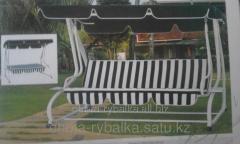 Качеля садовая раскладная кровать с крышей