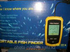 The LCD sonic depth finder the display with white