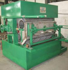 Equipment for production of packaging from recycled materials