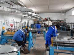 Изделия  из оцинкованной стали толщиной 0,7 мм.