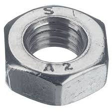 Nut six-sided M10 from A2 stainless steel