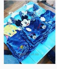 Комбенезон джинсовый детский на 1-4 года