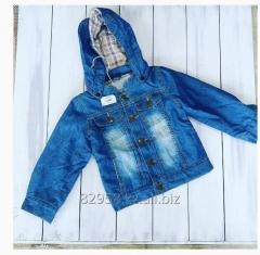 Jean jacket children's with a hood