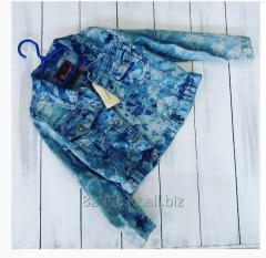 Jeans jacket flowers for the girl