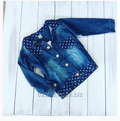 Jeans jacket with a heart for the girl