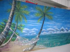 Background of art 6*3 m No. 7