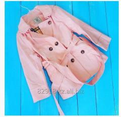 Raincoat for the girl of gently pink color