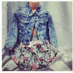 Jean jacket light for girls from 2 to 8 years