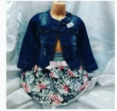 Jean jacket dark for girls from 2 to 8 years