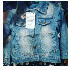 Jean jacket of 95 cm for the girl