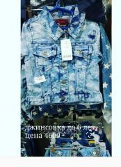 Jean jacket a pattern flowers on the girl till 6