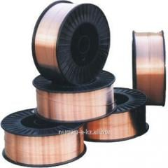 Wire copperplated welding of the alloyed Russian
