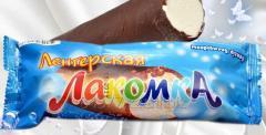 Gourmand ice cream in chocolate glaze, 70 g