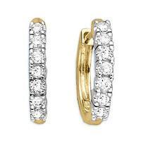 Серьги золотые с бриллиантами SI1/G 1.20 Ct