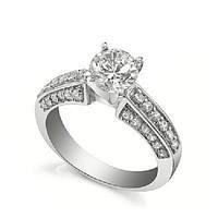 Кольцо классическое с бриллиантами I1/G  1,15 Ct