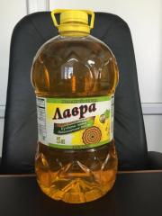 The sunflower oil which is not refined (bottled)