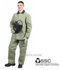 Suit of the welder from tarpaulin with OP