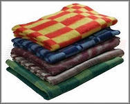 Blanket half-woolen 1,5 sleeping,