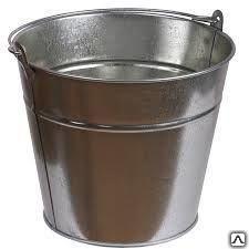 Bucket galvanized and black
