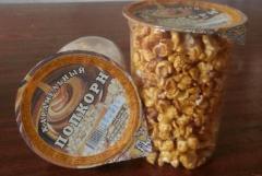 Popcorn caramel 50 gr, glass