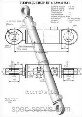 Гидроцилиндр ЦГ-110.80х1100.11 (ЕК-12) рукоять