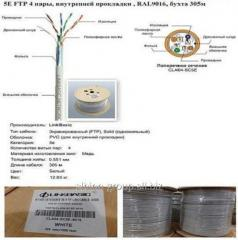 Cat 5E FTP cable 4 couples, internal laying,