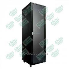 Шкаф напольный 42U, 600*600*2000,  цвет чёрный,
