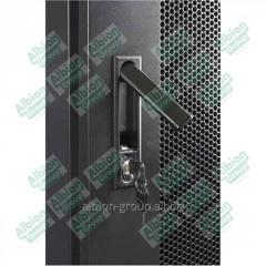 Шкаф напольный 42U, 800*1000*2000,  цвет чёрный,