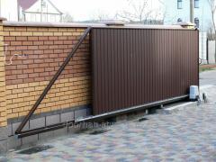 Сдвижные ворота 7500х3200 мм