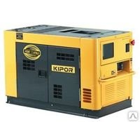 The diesel generator in a silent casing of