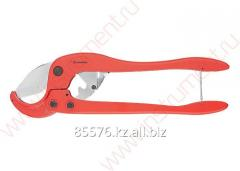 Scissors for cutting of products from PVC,