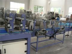 The line of pouring of carbonated drinks, 4000 PET-bottles in hour, the equipment for pouring of drinks