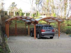 Canopy for the icopal carport car plus tree