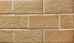Ceramic facing tile of TERRACOTTAS CHAMOTTE