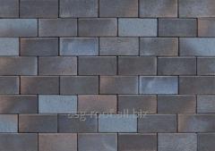 Sidewalk brick of 0710 Wismar blau-braun-bun