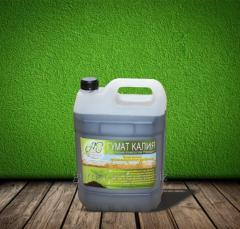Liquid concentrate a potassium humate (with macro