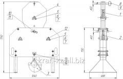 Hook suspension bracket of KB-586.11.00.00.000