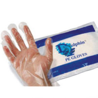 Gloves disposable for the Transparent Service