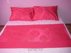 Bed linen red monophonic